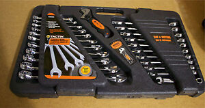 Tactix 22-piece wrench set - SAE and metric