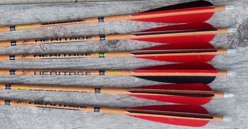"""HERITAGE ARROWS 5"""" RIGHT HELICAL FEATHERS CARBON EXPRESS"""