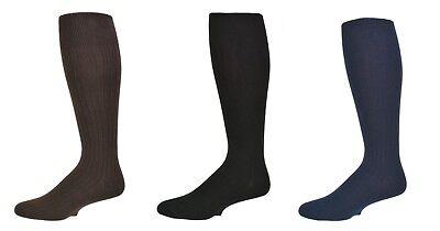 Sierra Socks Men's 3 Pair Pack Classic Dress Over the Calf Cotton Socks M3300 3 Pair Sock Pack