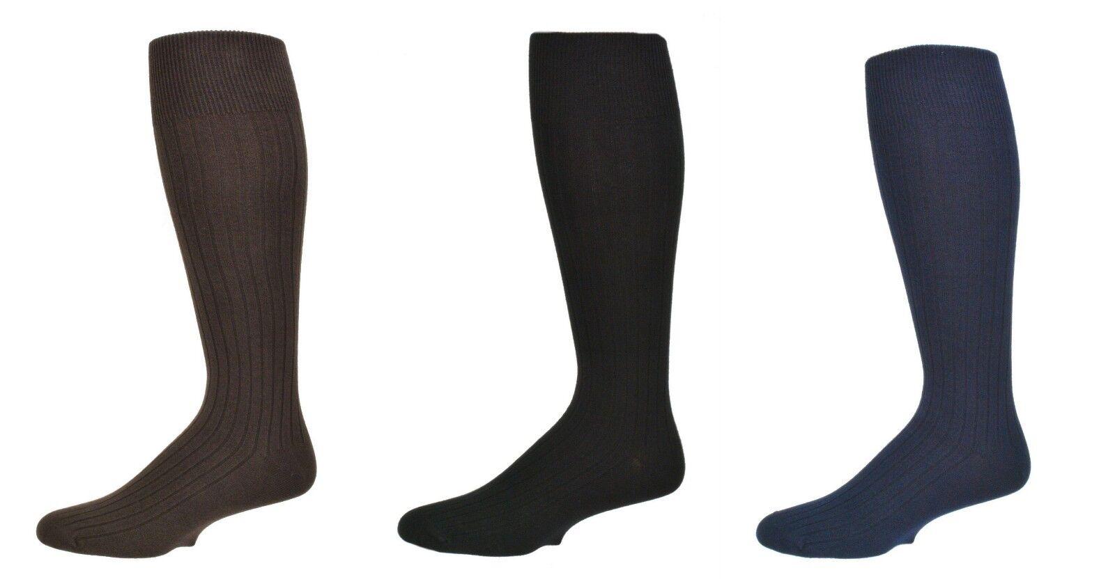 Sierra Socks Men's 3 Pair Pack Classic Dress Over the Calf C