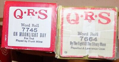 2 QRS Pianola Rolls On Moonlight Bay. By the Light of the Silvery Moon Doris Day
