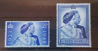 KING GEORGE VI & QUEEN ELIZABETH 1948, Set of Superb Unmounted mint sg 493-494.
