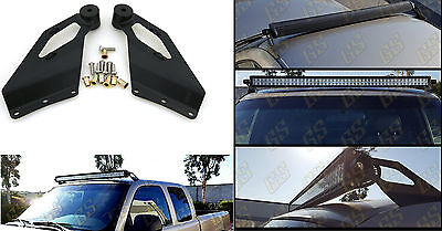 "1Pair Mounting Bracket for Chevy 50"" Straight LED Bar Upper Windshield/GMC 99-06"