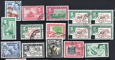 Fiji Used Collection to 5/- 1938-65 25+ Stamps