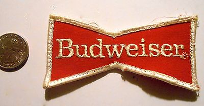 Budweiser  Beer Patch Embroidered Ale 3-7/8 inch Made in USA  Bow Tie