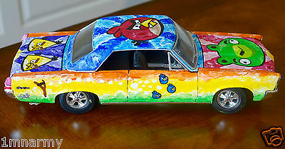 STEFANIE, GTO ANGRY BIRDS ART CAR , SIGNED ORIGINAL, STEVE KAUFMAN PIC! COA
