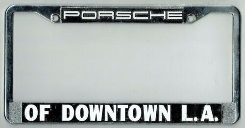 Los Angeles California Downtown LA Porsche Vintage Dealer License Plate Frame
