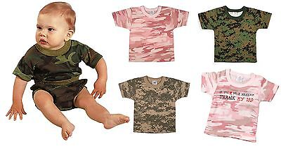 Baby Pink Camouflage T-shirt - Baby Camouflage Shirt T-Shirt Infant Clothing Tee Rothco Pink or Camo 3 Mo - 4T