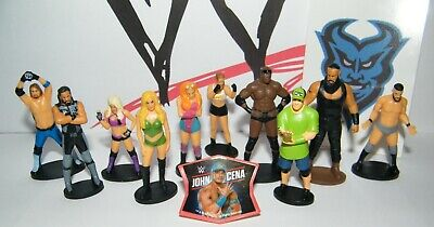 WWE Wrestling Party Favors Set of 12 with 10 Figures, WWE Sticker,  Finger Ring - Wwe Party Favors
