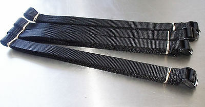 4 x 3m Roof Rack Tie-Down Straps: Luggage; Quick-Adjust Ladderlock Buckle