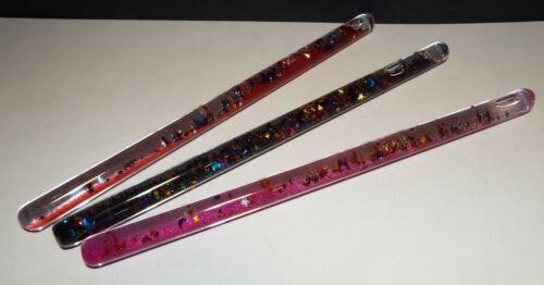 Magic Wands Glitter Glass Liquid Filled Mystical Lot of 3