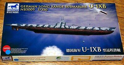 Bronco NB5009 : Longe Range Uboot Typ IX-B der dt. Kriegsmarine WW II /Kit 1:350