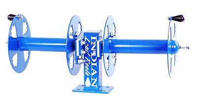 10 Welding Lead Cable Reel Side-by-side Heavy Duty Blue