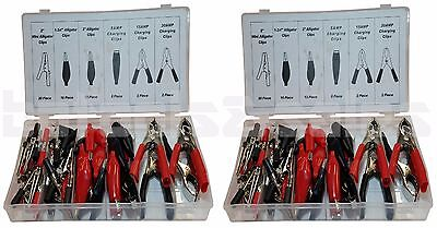 2 60pc Alligator Clip Assortment Set Test Lead Electrical Battery Clamp 120pc