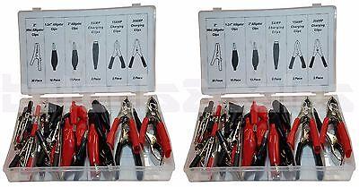 2 60pc Alligator Clip Assortment Set Test Lead Electrical Battery Clamp 120pc