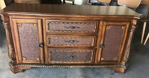 Antique credenza/ dresser with large mirror