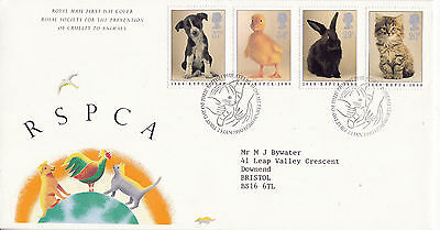 23 JANUARY 1990 RSPCA ANNIVERSARY ROYAL MAIL FIRST DAY COVER  BUREAU SHS (z)