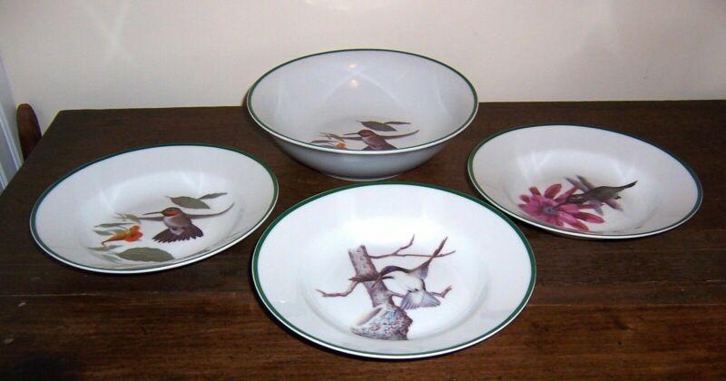 4 Bowls - Soup + Serving  Hummingbird Print - National Wildlife Federation China