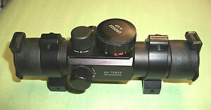 NEW CENTER POINT RIFLE SCOPE  30 mm TUBE, MULTI RETICLE RED GREEN DOT 72602