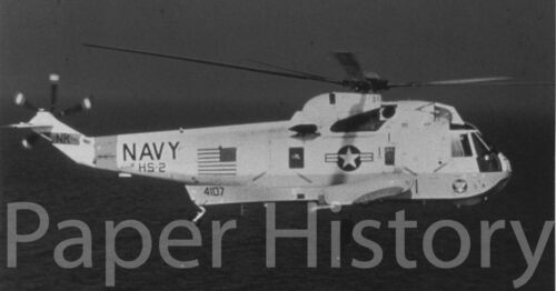 US Navy SH-3 Sea King Helicopter? Military 8x10 Photo Official USN Photograph