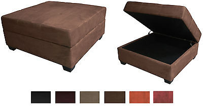 Large 35-Inch Square Storage Bench and Ottoman Suede or Leather Choose Color!!! ()