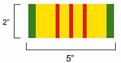 VIETNAM SERVICE RIBBON BUMPER/WINDOW STICKER
