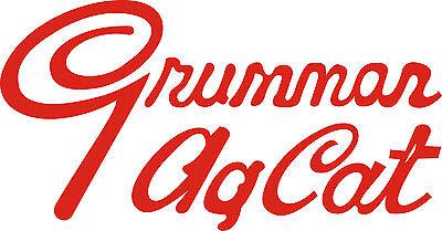 Grumman Ag Cat Aircraft Logo Sticker/Decal