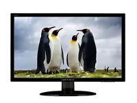 "Hanns G HE225DPB 21.5"" LED Backlit-LCD TFT Monitor VGA DVI HDMI builtin speakers"