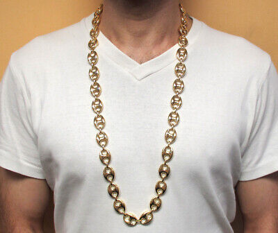 Vintage 90s 10k Pre-Owned Yellow Gold Puffed Gucci Chain 36 Inch, 12.5MM or 13MM
