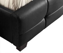 Brand New Quality PU Leather Bed Frame in Black or White Clayton South Kingston Area Preview
