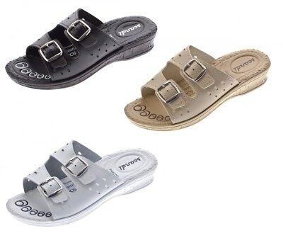 Damen Pantoletten Clogs Latschen Schuhe Komfort-Soft-Fußbett Sandalette Gr 36-42 Soft Damen Clogs