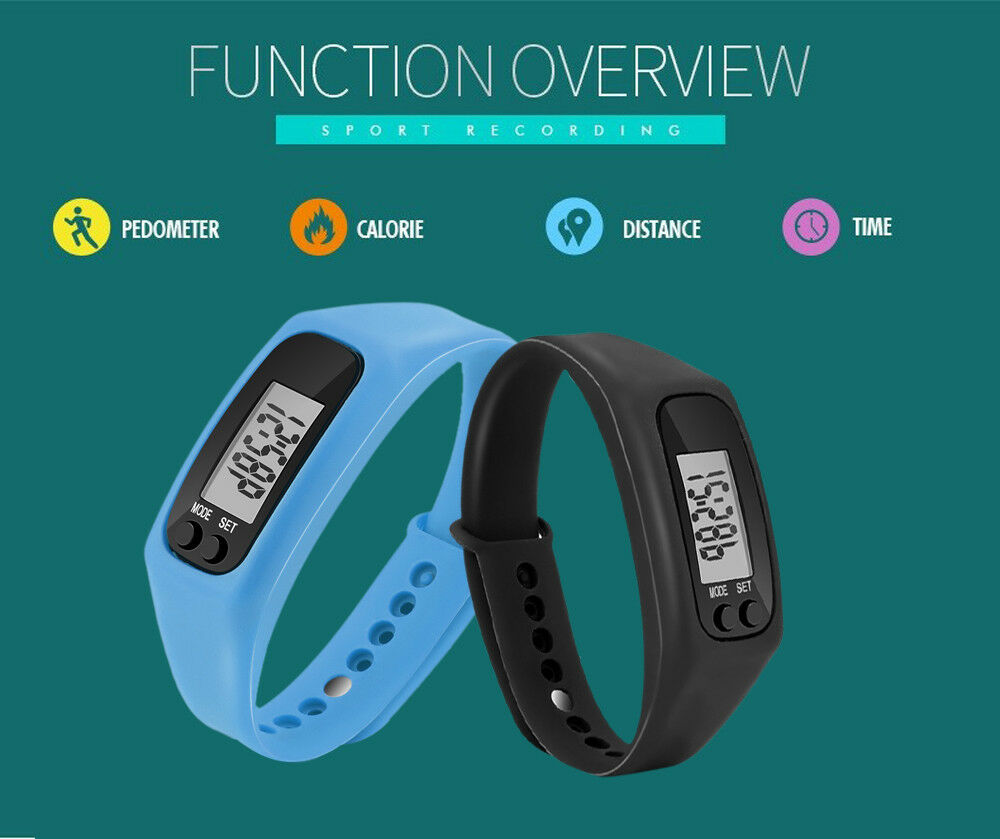 Digital Moda LED Sports Watch Unisex Distance Calorie Silicone Band Wrist ts