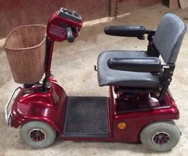Shoprider Sovereign 4 medium size pavement Mobility Scooter Red
