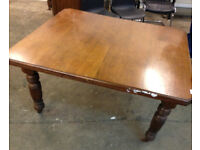 retro antique dining table with extension