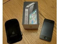 apple iphone 4 02 network with pouch and screen protector excellent condition unmarked