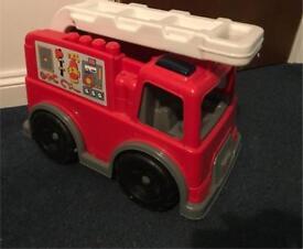 Mega blocks duplo fire engine toy