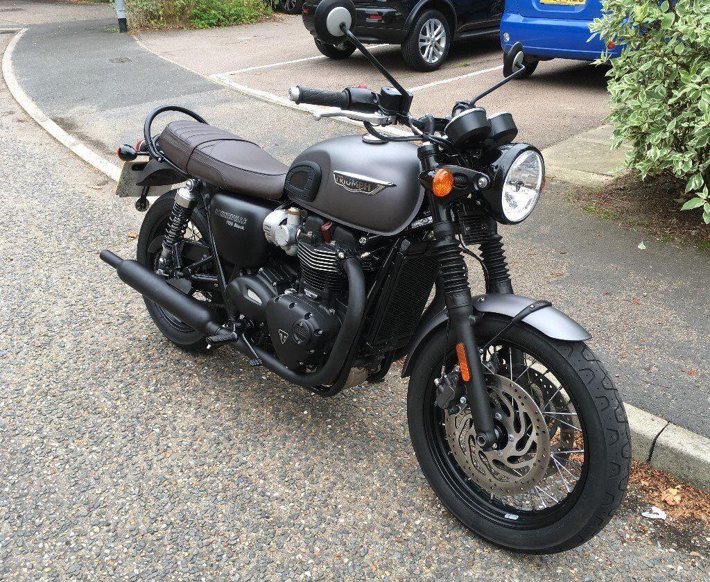 Triumph Bonneville Motorcycle 2016 T120 Black Grey Paint Upgrade