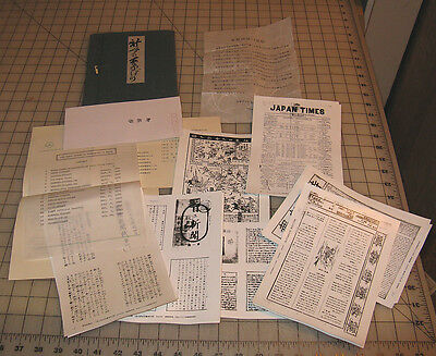 Vintage JAPAN MICROFILM SERVICE CENTER Portfolio/Newspaper Photo Packet