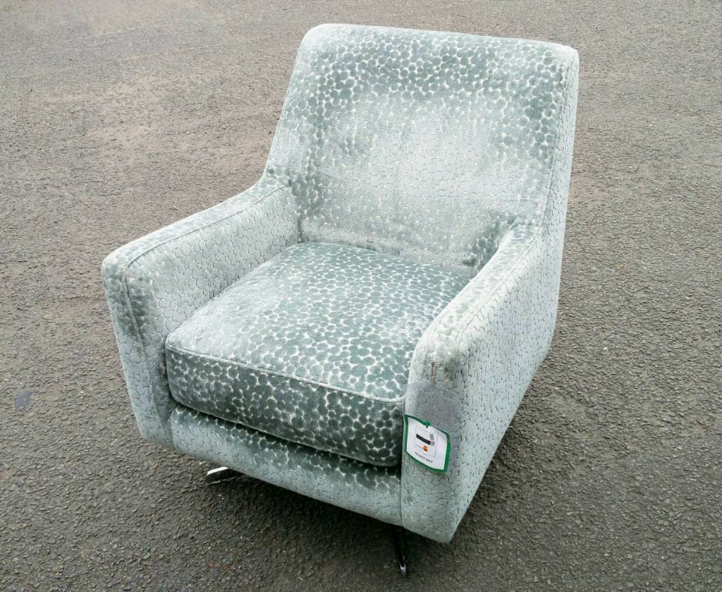 free delivery new rrp 649 dfs accent swivel chair armchair