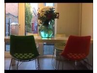 Unique Furniture Village White Gloss Table & 4 chairs