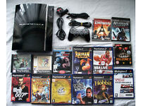 PS3 playstation 3 CECHC model backwards compatable with controller and games!!!