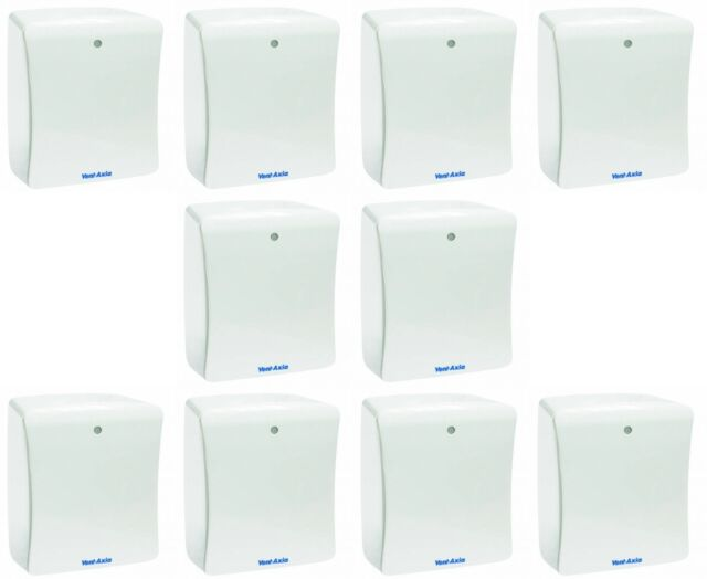 10 x Vent Axia 427478B Solo Plus T Bathroom Extract Fans with Timer 427478A