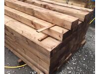 🦉 *New* Tanalised Wooden/ Timber Railway Sleepers ~ Brown