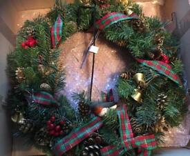 "21"" christmas wreath (used)"