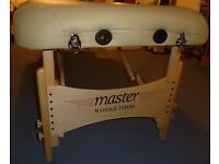 Memory foam topped massage table