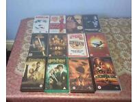 12 VHS FILMS FOR SALE
