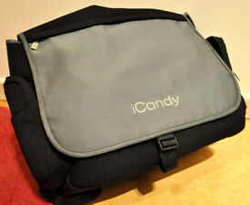 iCANDY Jogger turquoise/teal nappy bag, Great condition