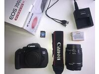 Canon EOS 700D DSLR Camera with 18-55 mm f/3.5-5.6 Zoom Lens, SDHC card,Warranty
