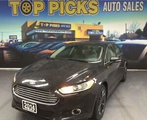 2014 Ford Fusion SE, LEATHER, NAVIGATION, SUNROOF, ALLOY WHEELS,