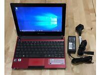 Packard Bell dot S Netbook - Windows 10 - 1GB DDR3, 250GB HDD, Intel Atom N445